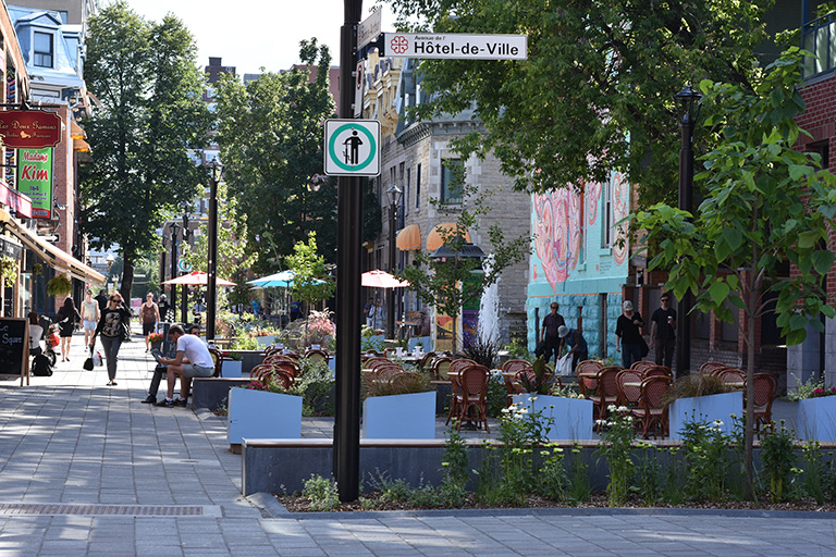 La rue Prince-Arthur Est.