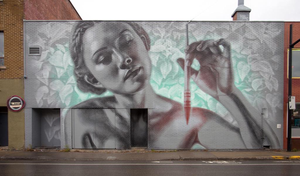 Détail De La Murale Située Au 6206, Rue Saint-Hubert – Murales