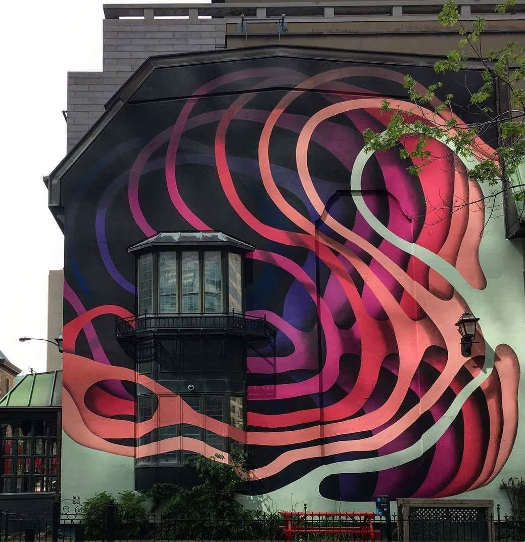 Murale située au  2175, rue Victoria