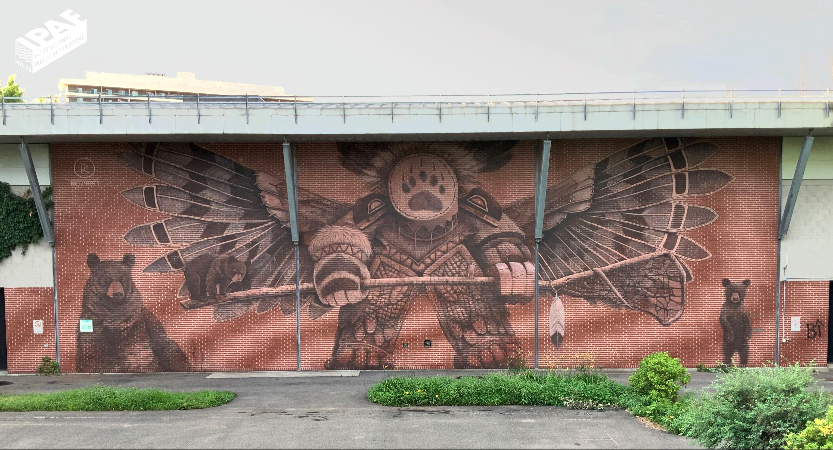 Murale située au 2633 rue Ontario Est