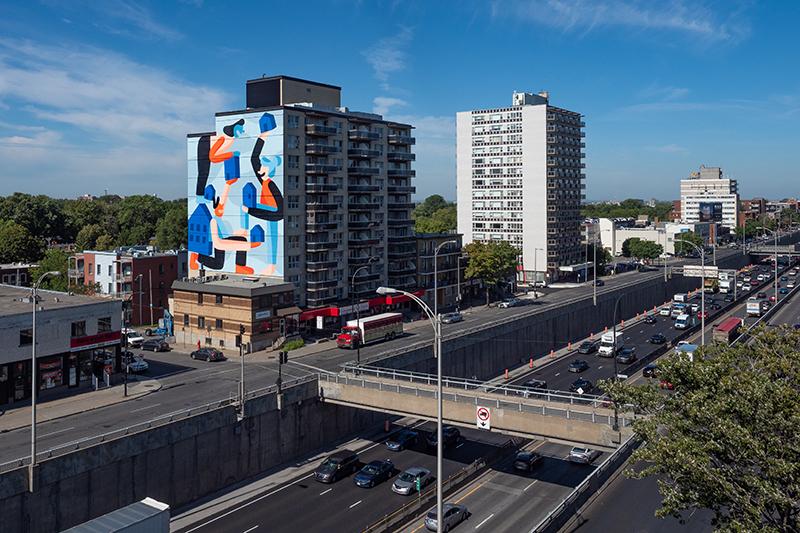 Murale située au 5820, boulevard Décarie