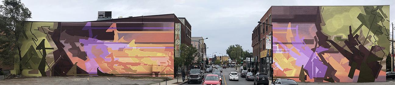 Murale située au 2524 et 2531, rue Ontario est