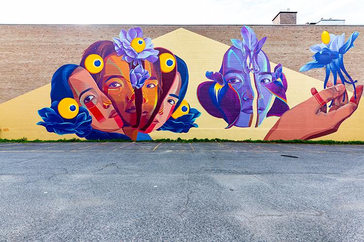 Murale située au 3614, rue Saint-urbain