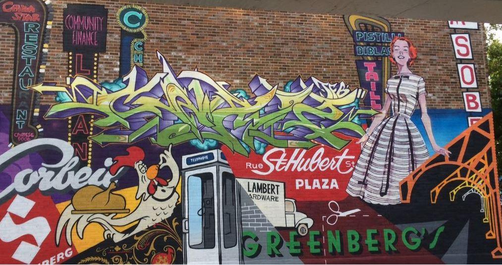 Murale située au 6542-44, rue Chateaubriand