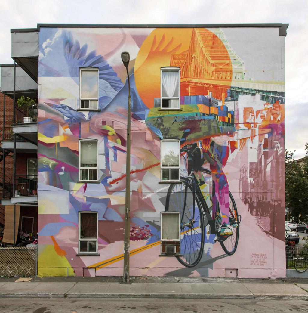 Murale située au 3562, rue Sainte-Catherine Est