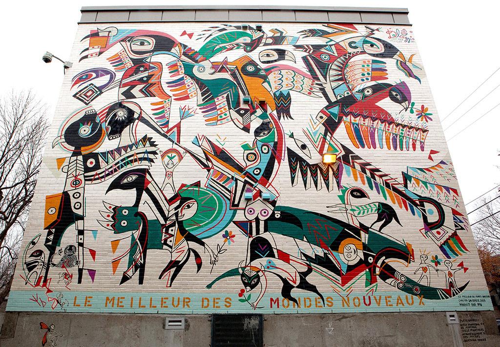 Murale située au 7800, rue Jacques Rousseau