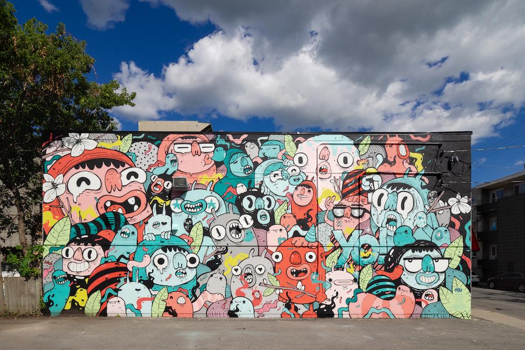 Murale située au 925 rue Hickson