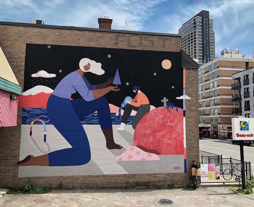 Murale située au 3469 avenue du Parc