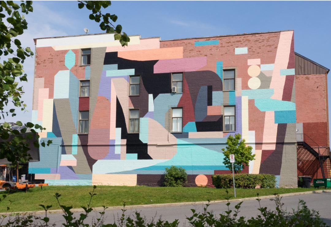 Murale située au 4030, rue Notre-Dame Ouest