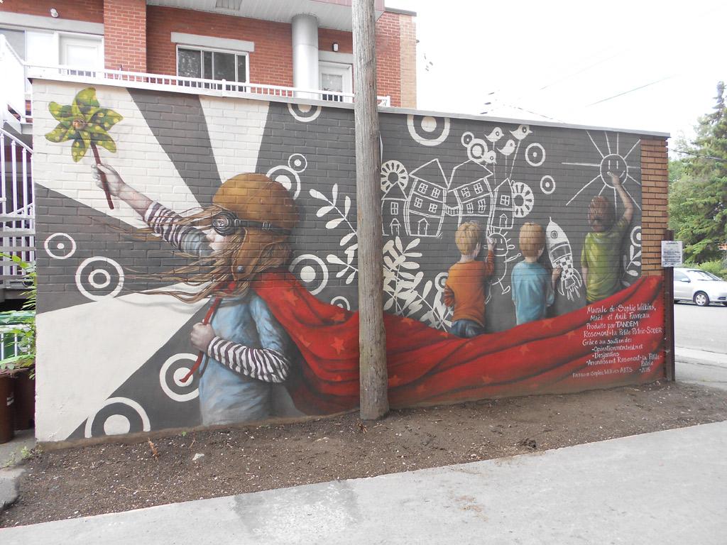 Murale située au 4903, boulevard Rosemont (ruelle)