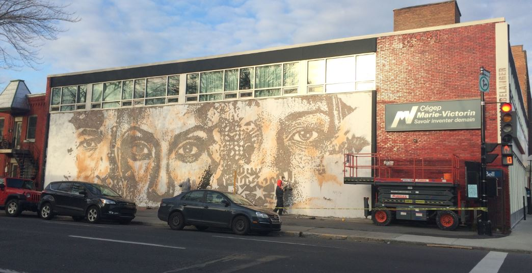 Murale située au  767, rue Bélanger