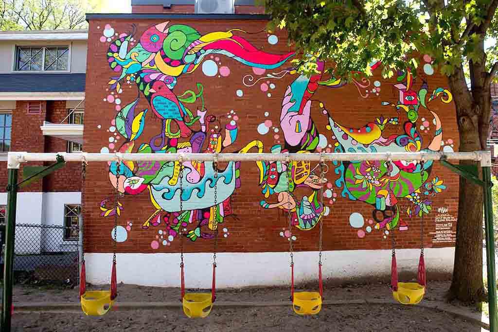 Murale située au 7060, avenue Bloomfield