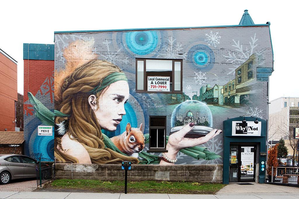 Murale située au 3518, rue Lacombe