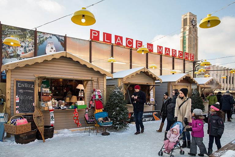 Place du marché en hiver